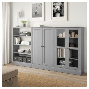 Ikea Havsta Gray Storage Combination W Glass Doors In 2019