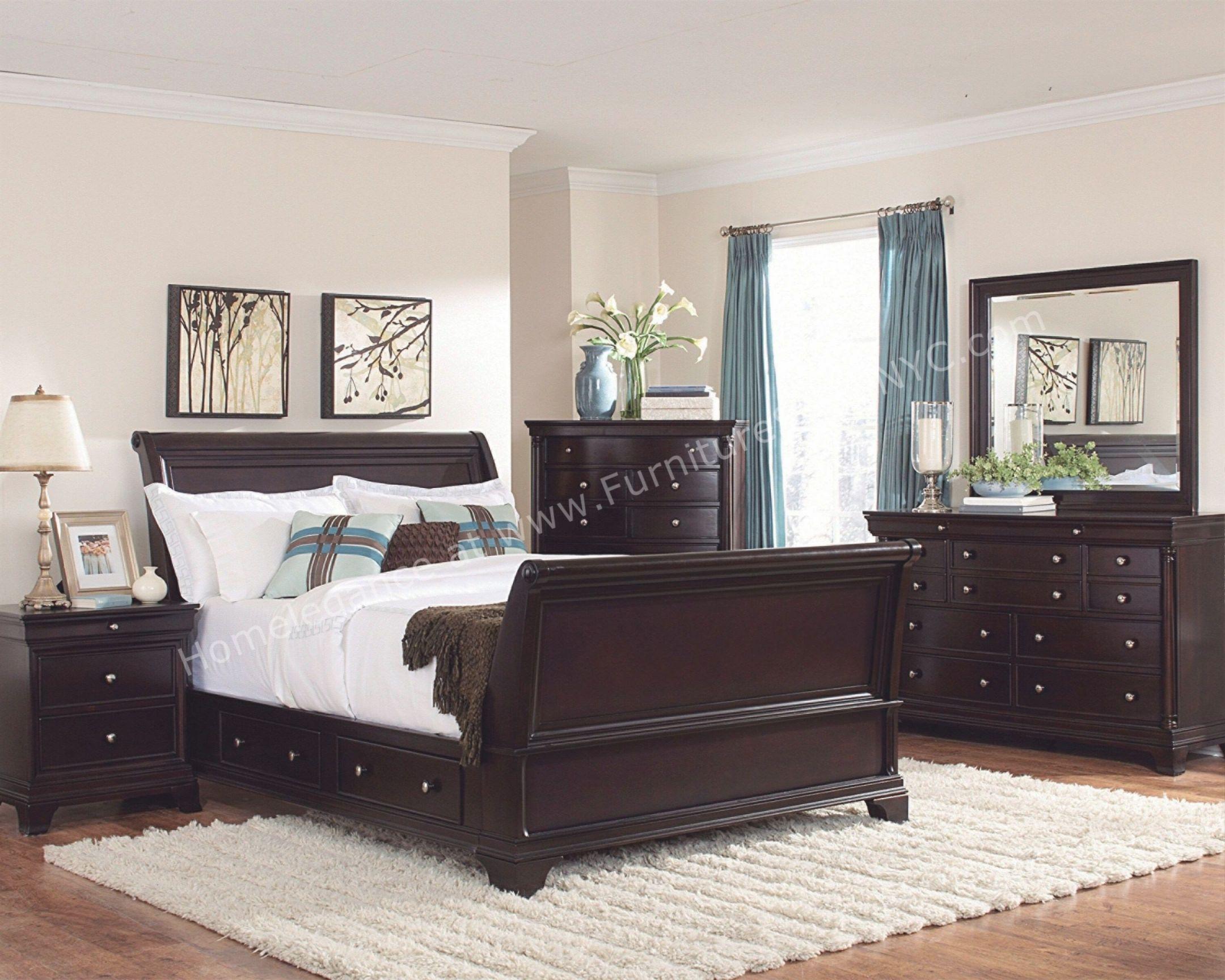 Fresh Bedroom Set Dark Wood Awesome Decors