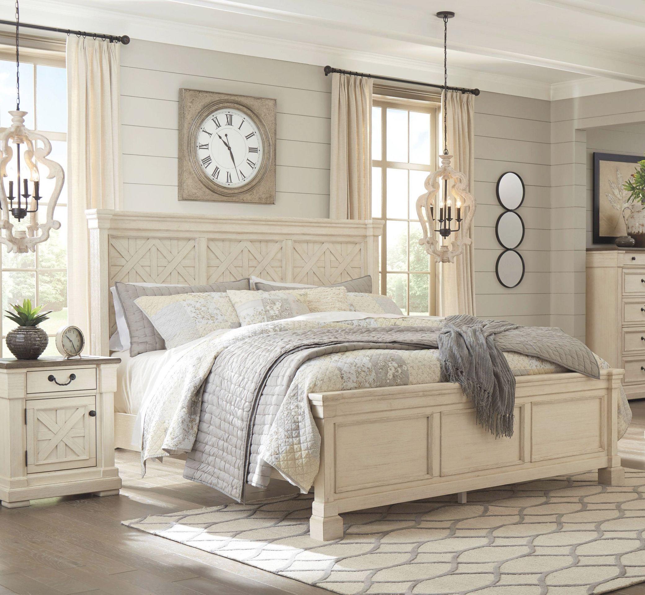 ashley furniture bolanburg white 2pc