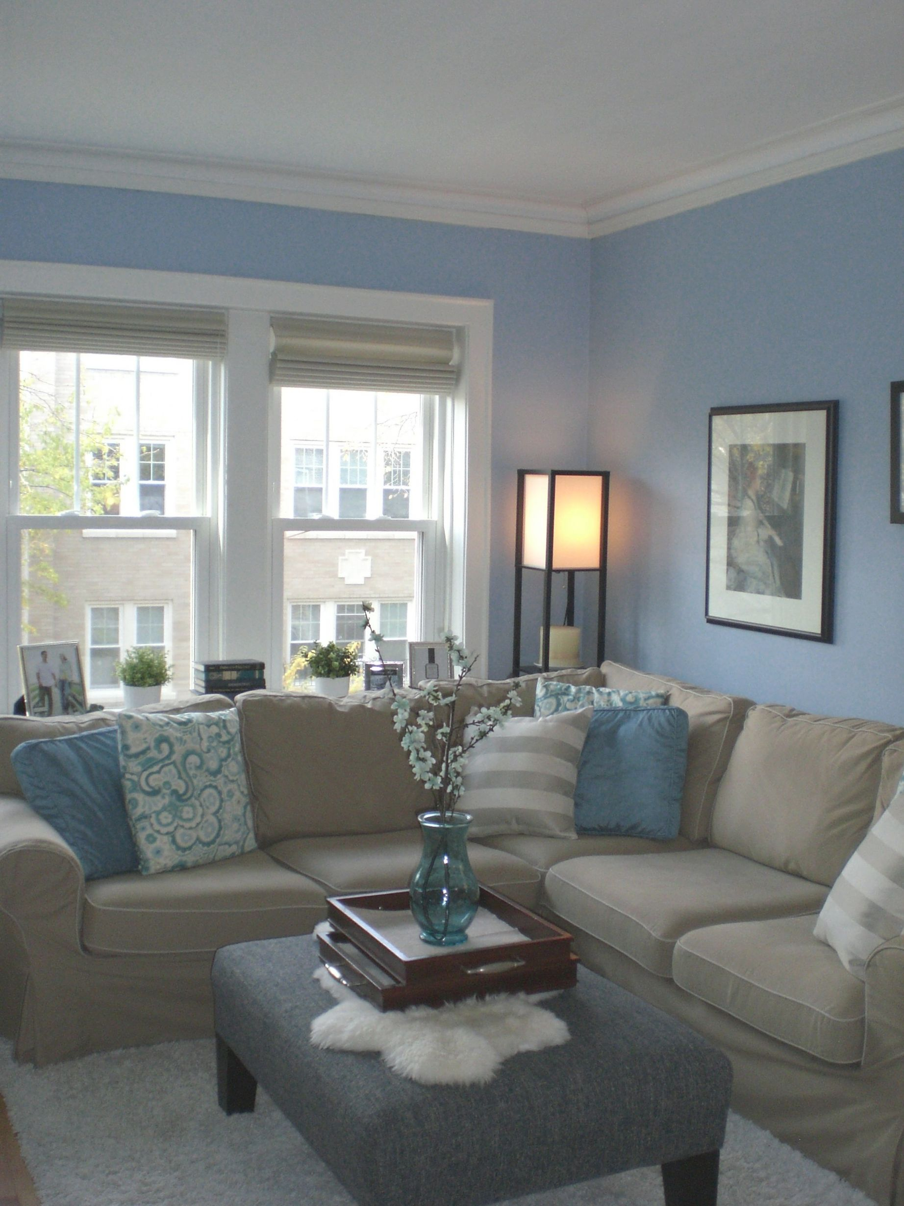 10 inspiration for blue and tan living