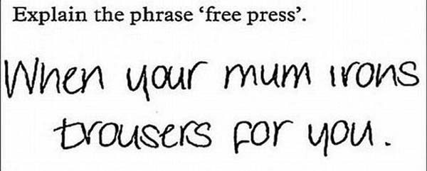 28 Brilliant test answers given by kids. Some of these are