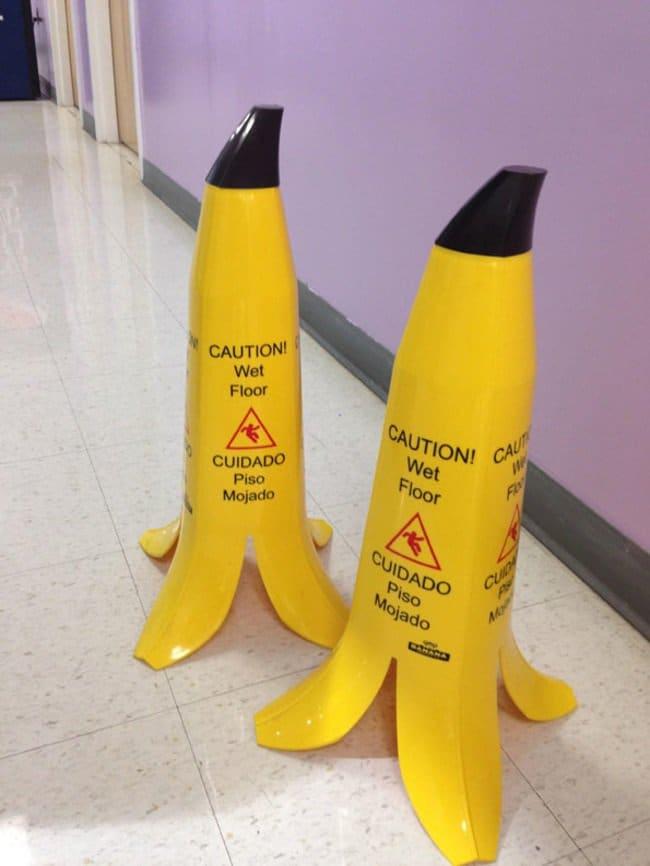 banana caution signs