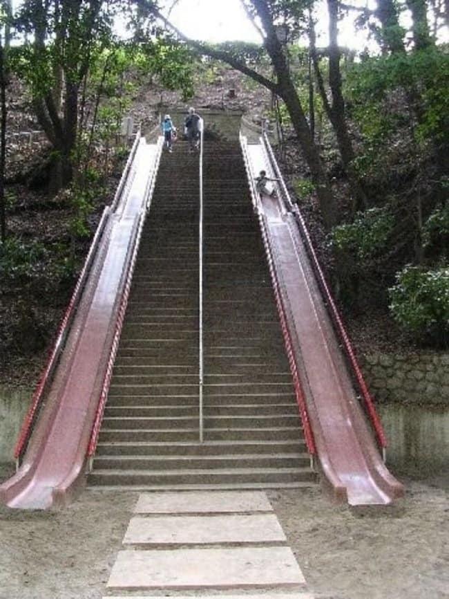 steps with slides