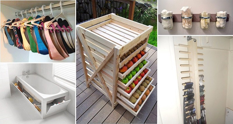18 Creative Storage Ideas You Can Do Yourself