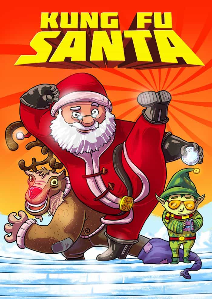 Santa Goes To Hollywood In These Movie Poster MockUps