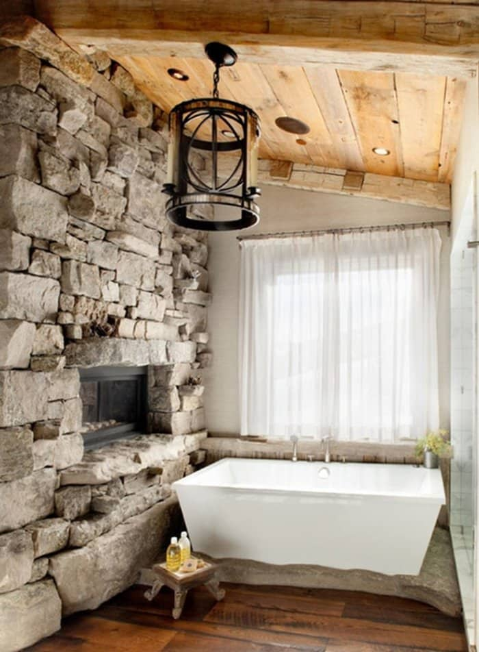 Rustic Wood Bathroom Vanity