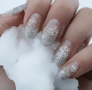 wonderful winter nail design