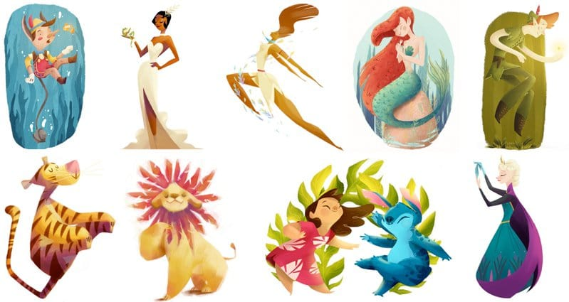 Artist Re Imagines Disney Characters As Beautiful