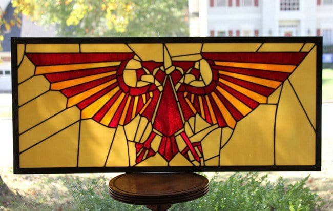 These Superhero And Video Game Themed Stained Glass Panels