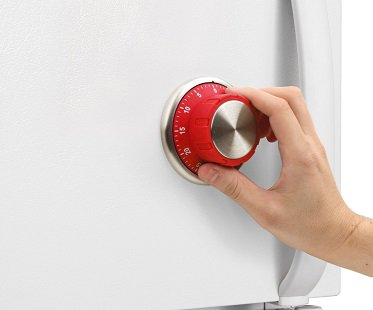 kitchen timer stainless steel garbage can safe lock