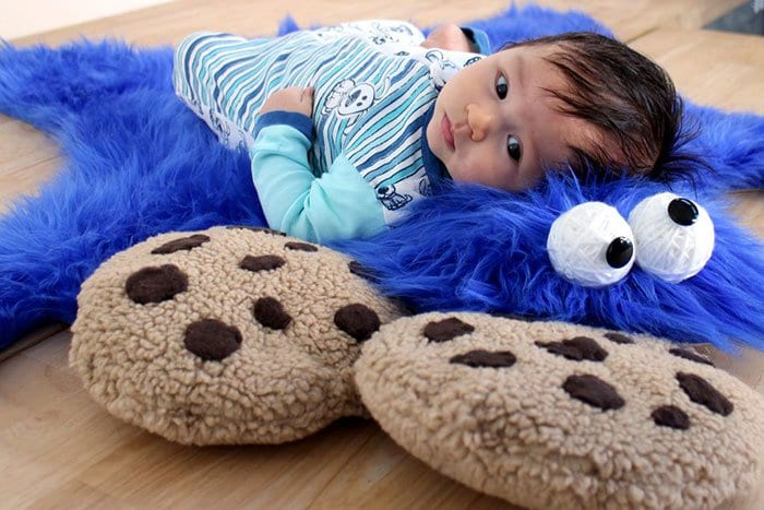 Create Your Own Cookie Monster Rug Complete With Cookie Pillows