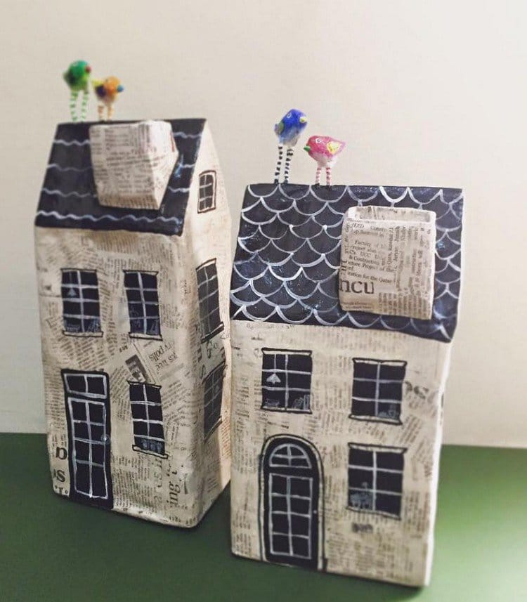 These Quirky Paper Mache Houses Are So Sweet Theyll Make