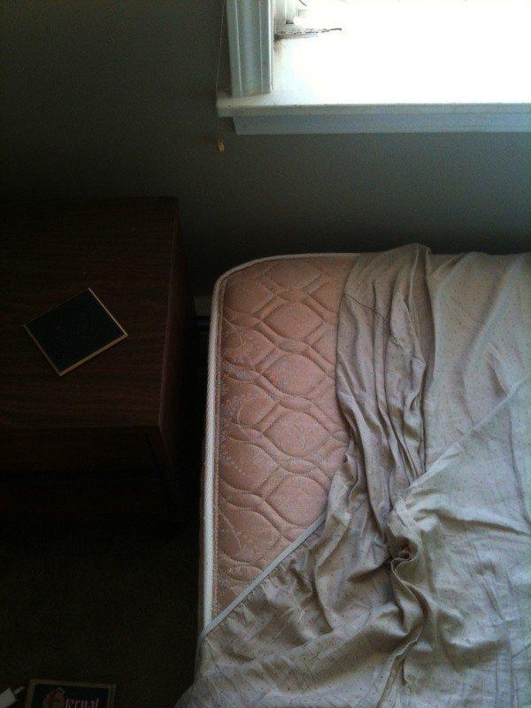 untucked sheet