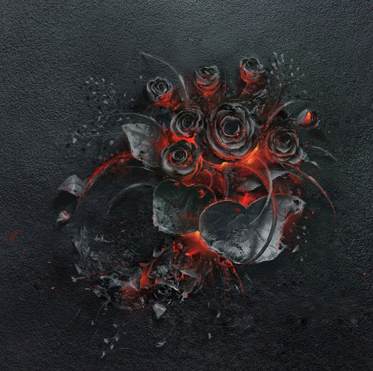 Polish Advertising Agency Creates This Awesome Burning Rose Bouquet