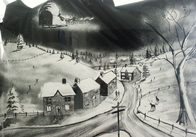 This Incredible Snow Spray Window Art Is Perfect For Christmas