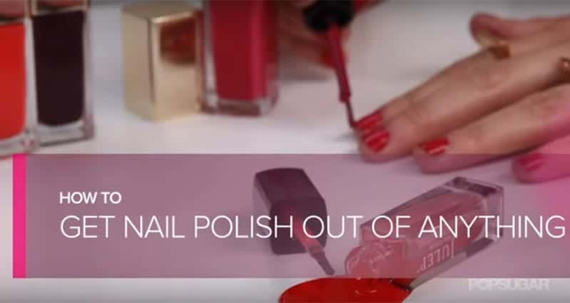 Find Out How To Remove Nail Polish Stains From Fabrics And