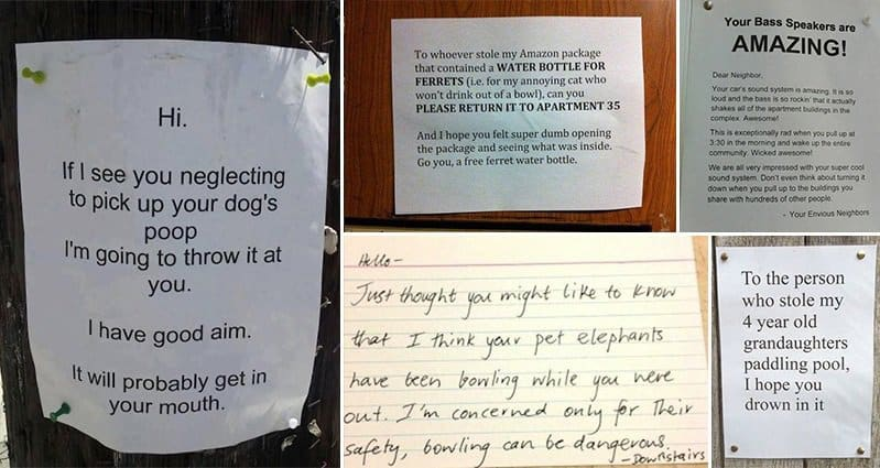 14 Hilarious Notes Left By Neighbors That Will Make You