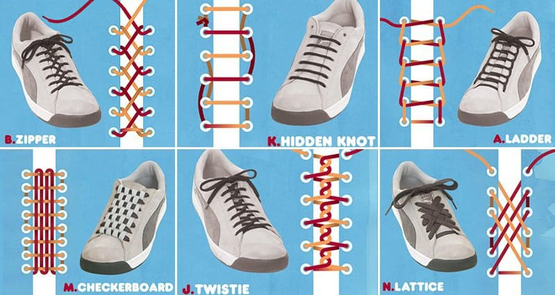 15 Awesome And Unique Ways To Tie Your Shoelaces That Will