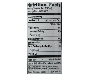 Moes Nutrition Facts - NutritionWalls