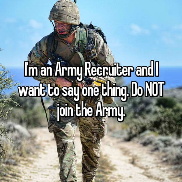Military Recruiters Reveal Secrets That They Would Never ...