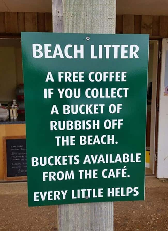 free-coffee-for-every-bucket-of-litter-brilliant-ideas