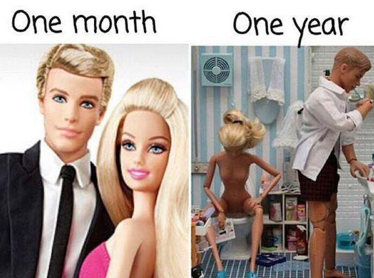 year after marriage relationship struggles memes