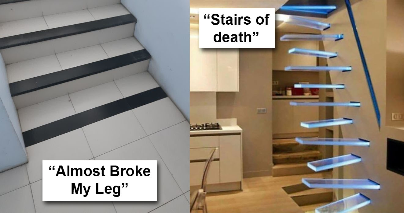 40 Bad Stair Designs That Definitely Need A Rethink   Double Staircase House Plans   12 Room   Mansion   Design   Small House   Bedroom