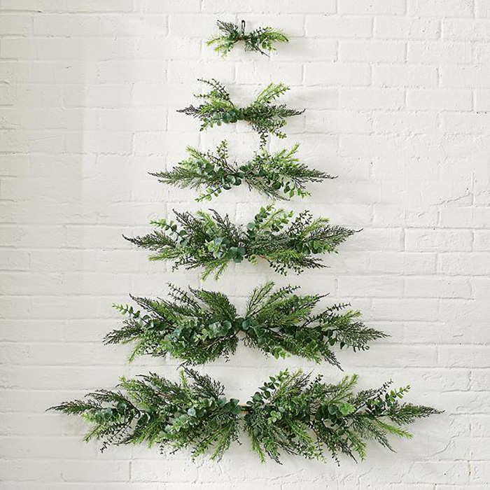 These Space Saving Wall Mounted Christmas Trees Are Perfect For Smaller Rooms