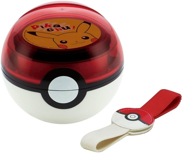pokeball lunch box with belt handle