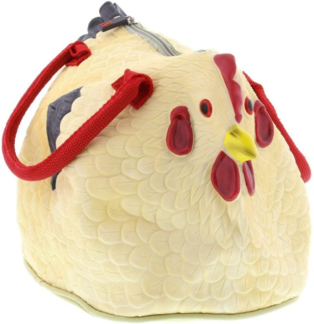 hen bag rubber chicken purse
