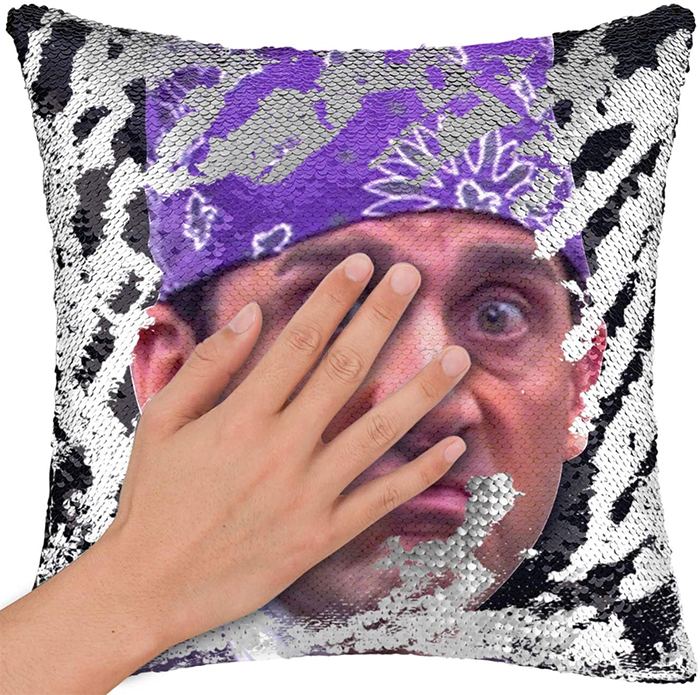 the prison mike sequin pillowcase is