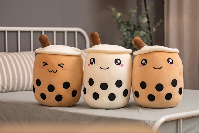 bubble tea plush pillows
