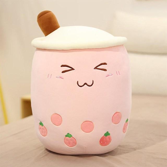bubble tea plush pink