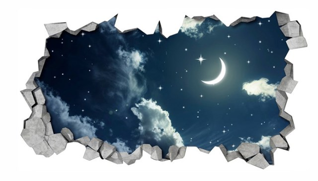 night sky ceiling decal 3d print