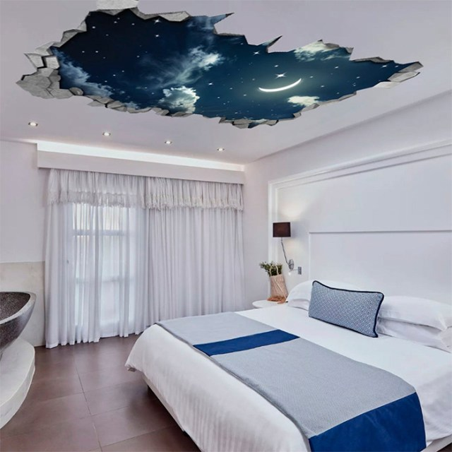 night sky ceiling decal sticker