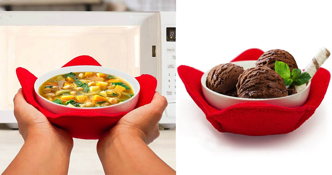 this bowl hugger lets you handle hot