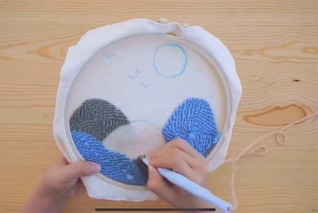 rug hooking craft set easy