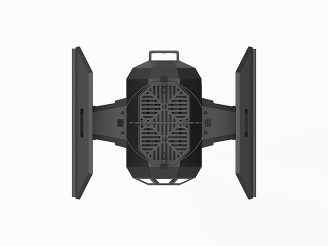 tie fighter bbq grill folded side shelves