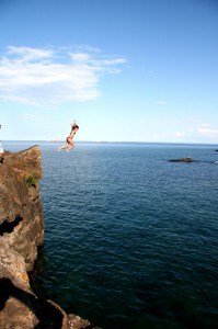 Day 305: Jump off a Cliff (and into Lake Superior) at Black Rocks!