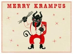 St. Nick's counterpart, Krampus.