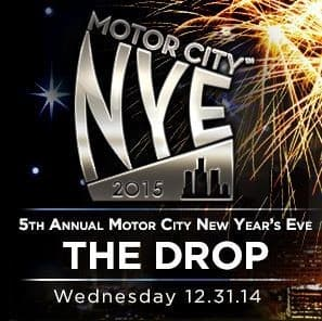 There'll be lots to do at The Drop. (Image courtesy of Motor City NYE.)