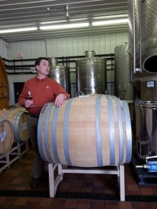 Black Star Farms' Head Wine Maker, Lee Lutes.