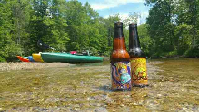 Short's beers on the Chippewa River - #MittenTrip - Mt Pleasant - The Awesome Mitten