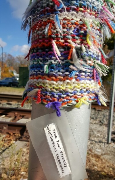 Yarn Bomb - #MittenTrip - Ypsilanti - The Awesome Mitten