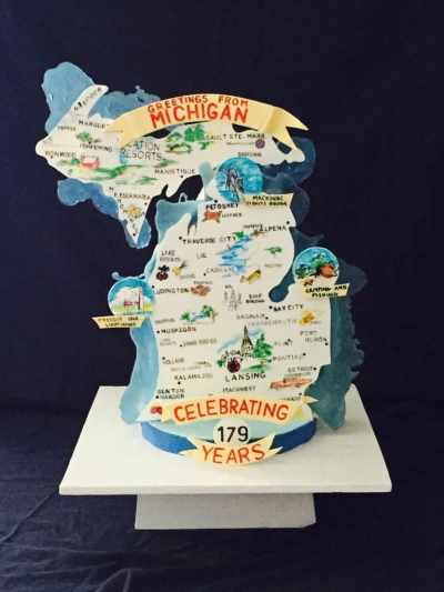 Jamie Springer - Michigan Birthday Bakeoff - The Awesome mitten