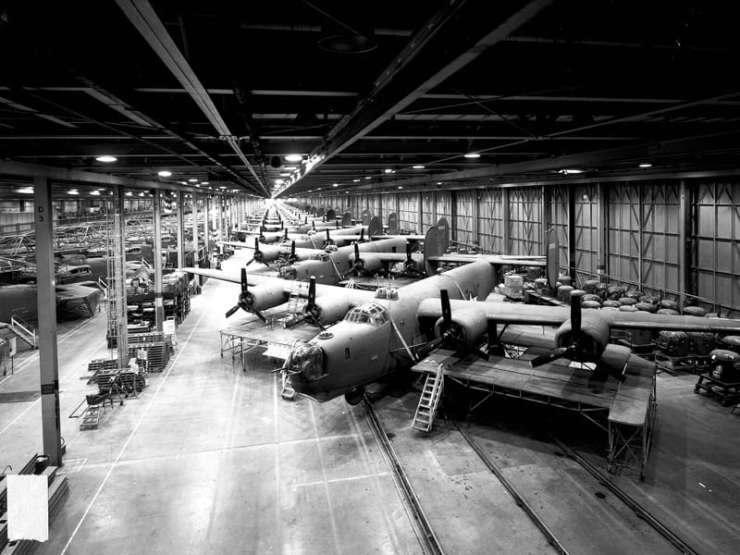 Willow Run factory. Photo courtest of MotorCities National Heritage Area