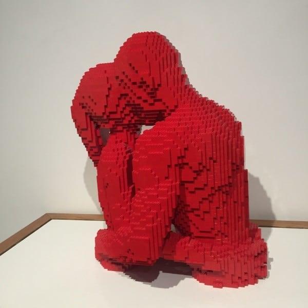 The Kiss Art of the Brick at Ella Sharp Museum