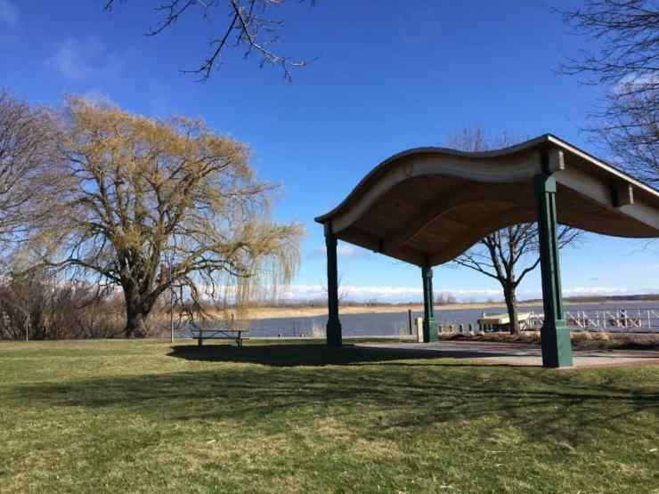 Stretching our legs at Mill Point Park, Spring Lake. Photo by Rhonda Greene.