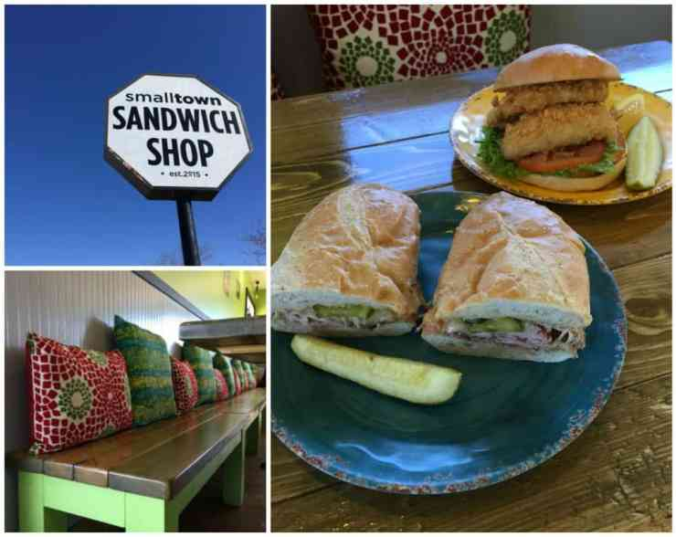 Stopping for a quick bite at Small Town Sandwich Shop in Spring Lake. Photos by Rhonda Greene.