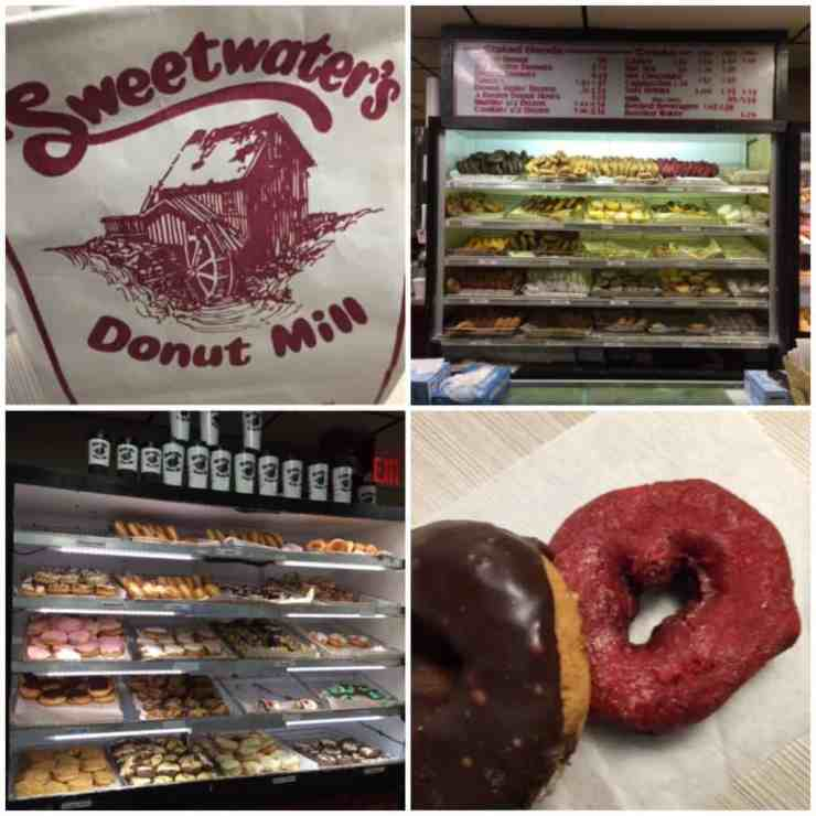 Picking up an evening snack at Sweetwater's Donut Mill. Photo by Rhonda Greene.